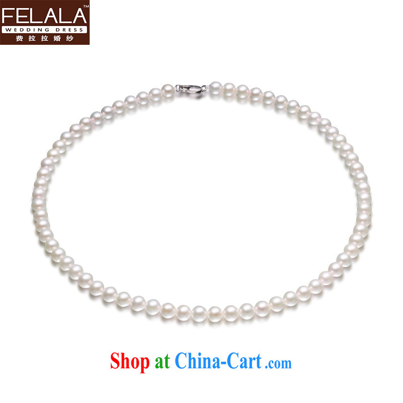 Ferrara bridal accessories simple Korean-style pearl necklaces wedding dress wedding dinner jewelry wedding winter, accessories