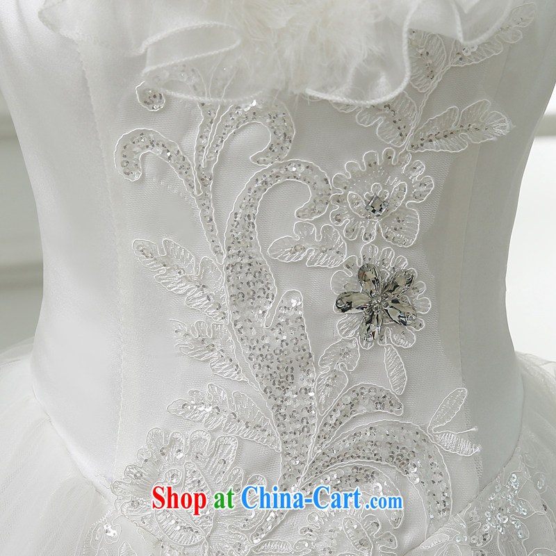 There is embroidery bridal upscale winter wedding dresses 2015 new winter wedding winter clothes cotton long-sleeved wedding dresses white XXXL 2 feet 4 waist Suzhou shipping and it is absolutely not a bride, shopping on the Internet