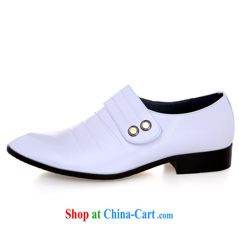 Lisa Donald Rumsfeld's white wedding shoes men's wedding shoes stage shoes, fashion shoes, performance shoes wedding photography shoes ER 90 white 44 is code