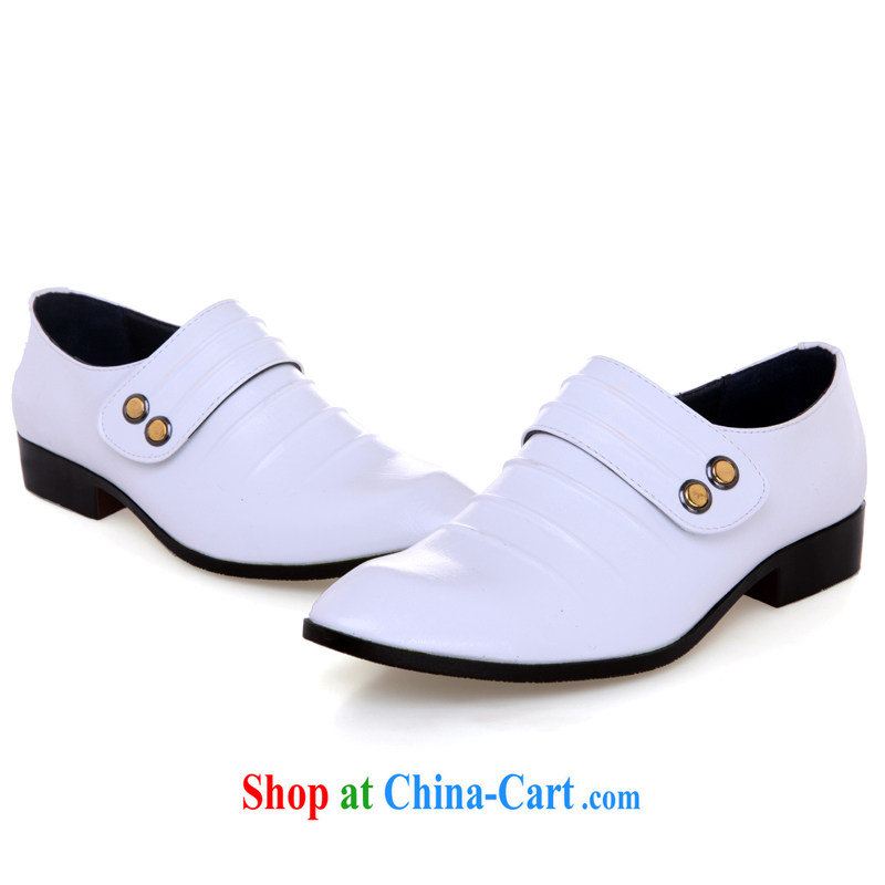 Lisa Donald Rumsfeld's white wedding shoes men's wedding shoes stage shoes, fashion shoes, performance shoes wedding photography shoes ER 90, white 44 is code, love so Pang, online shopping