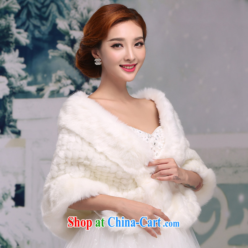 Winter 2014 new bride wedding thick hair shawl Korean wedding dresses warm white shawl jacket