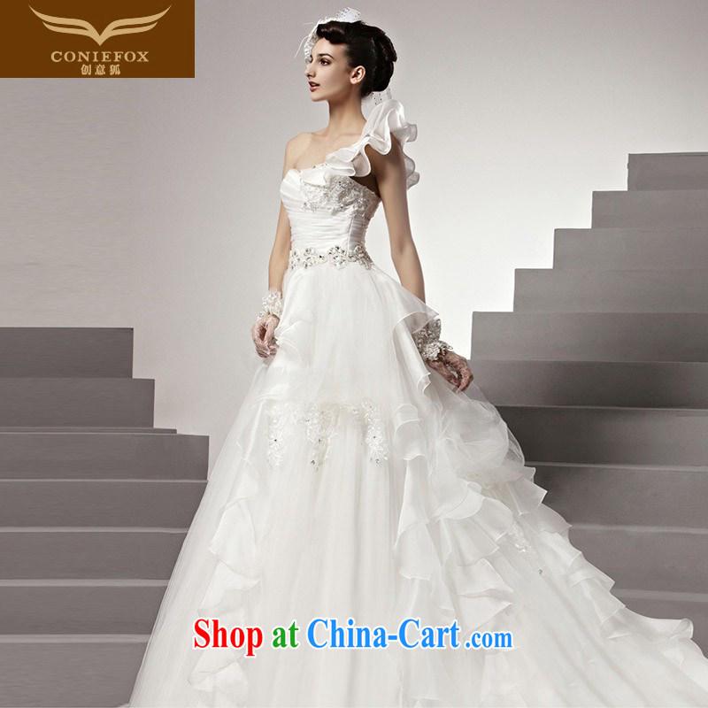 Creative Fox wedding dresses 2015 new dream single shoulder flouncing wedding luxury custom wedding elegant brides with wedding 90,151 white tailored