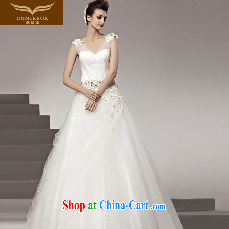 Creative Fox wedding dresses tailored wedding charming style wedding bridal sexy marriage wedding white dream wedding 90,162 white tailored