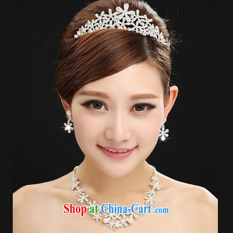 Bridal jewelry wedding jewelry bridal suite Crowne Plaza chain jewelry Kit Accessories marriage 3 Piece Set Korean