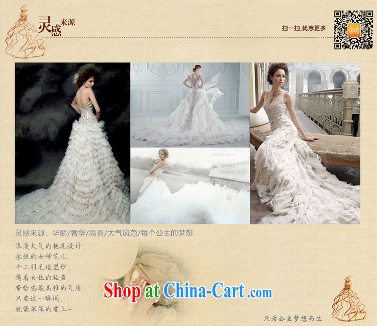 Honeymoon bridal wedding dresses 2015 winter, wedding classic wipe chest Korean Princess feather tail wedding white XL pictures, price, brand platters! Elections are good character, the national distribution, so why buy now enjoy more preferential! Health