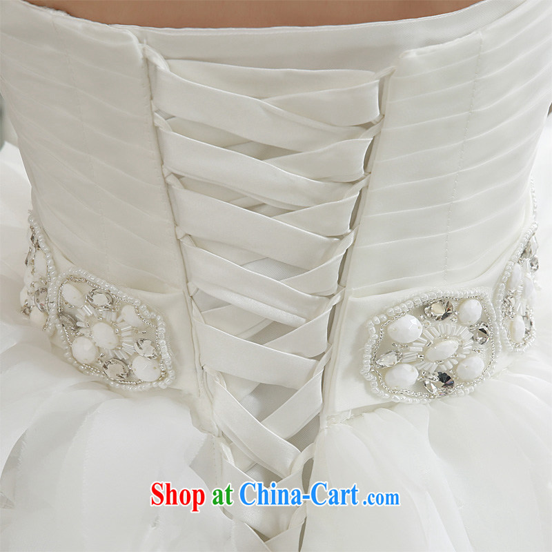 Honeymoon bridal wedding dresses 2015 winter, wedding classic wipe chest Korean Princess feather-tail wedding white XL, Honeymoon bridal, shopping on the Internet