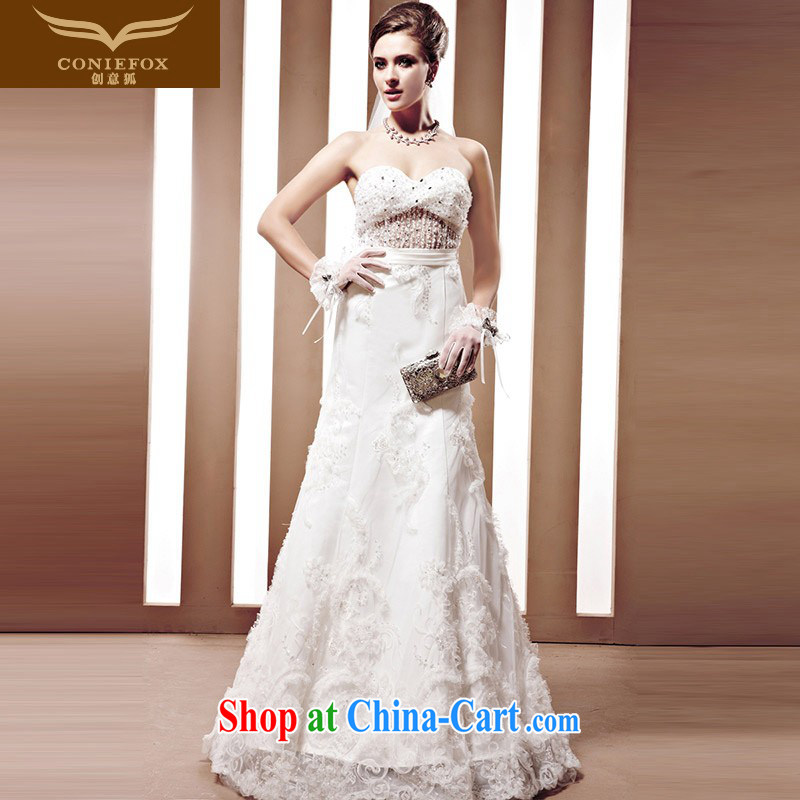Creative Fox tailored wedding dresses a purely manual staple-joo Korean drill, sweet Princess Euro-style wedding dresses with white wedding 90,062 tailored