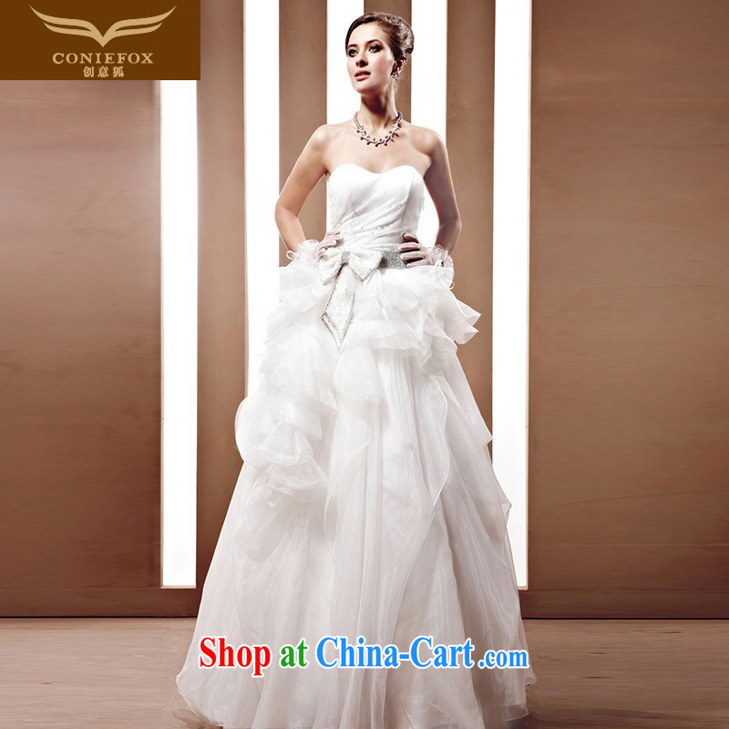 Fox tailored wedding dresses 2015 new erase chest Korean wedding ...
