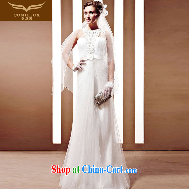 Creative Fox The bride wedding dress Western wedding winter high-end custom wedding 90,025 tailored