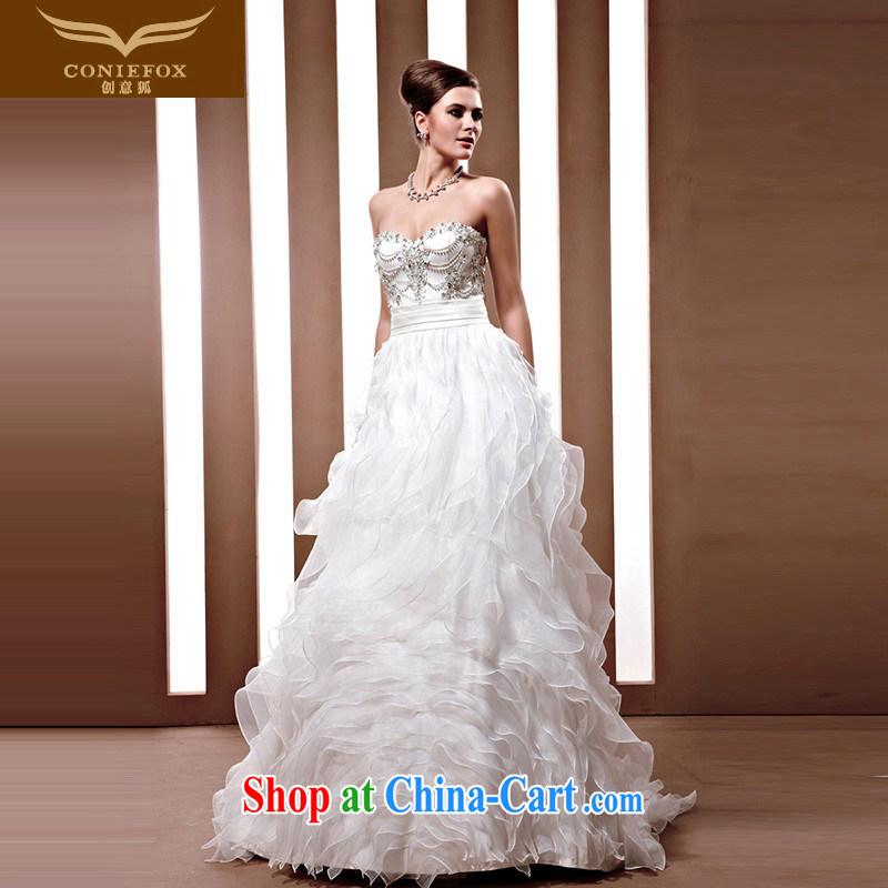 Creative Fox wedding tailored luxury luxury wedding high-end custom Korean-style wedding bridal marriage wedding 90,036 white tailored