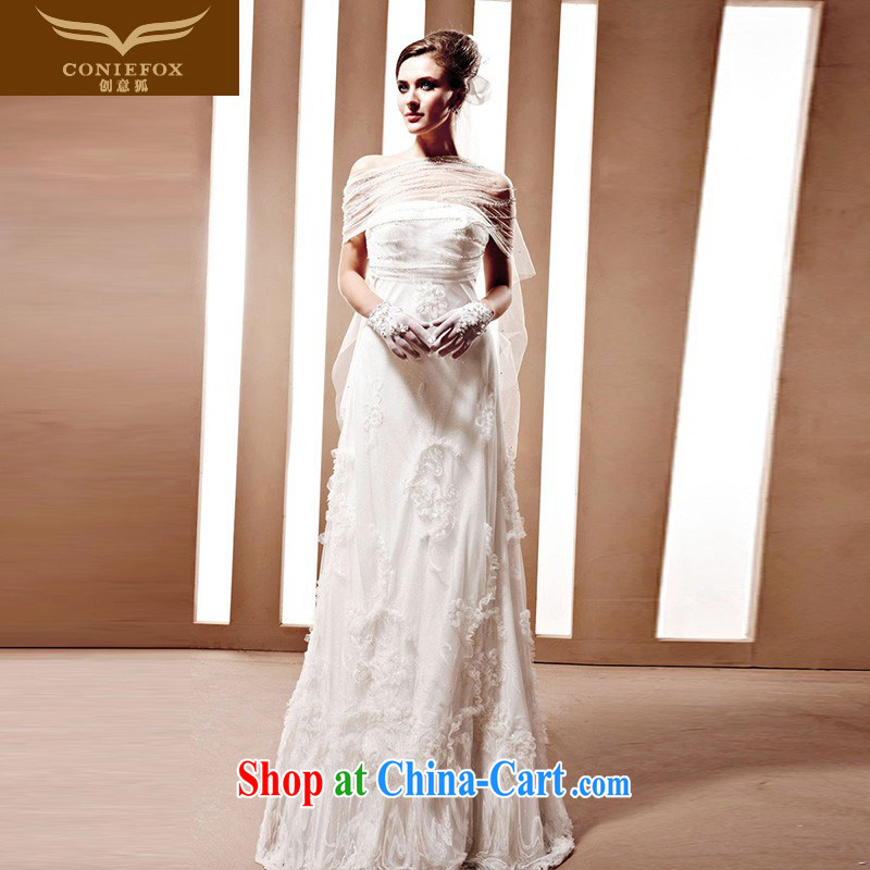 Creative Fox wedding tailored white bridal wedding elegant graphics thin marriage wedding Princess shaggy skirts elegant fall wedding 90,022 white tailored