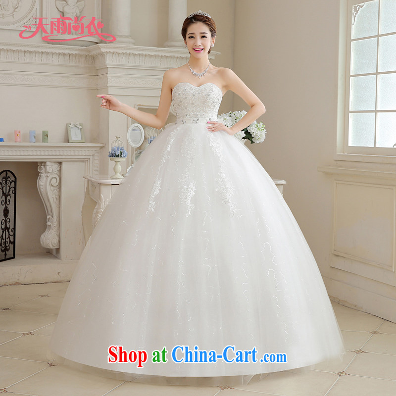 Rain is still clothing bridal wedding dress 2015 new Korean white erase chest stylish bow-tie wood drill video thin large, pregnant women wedding HS 886 white tailored is not returned.
