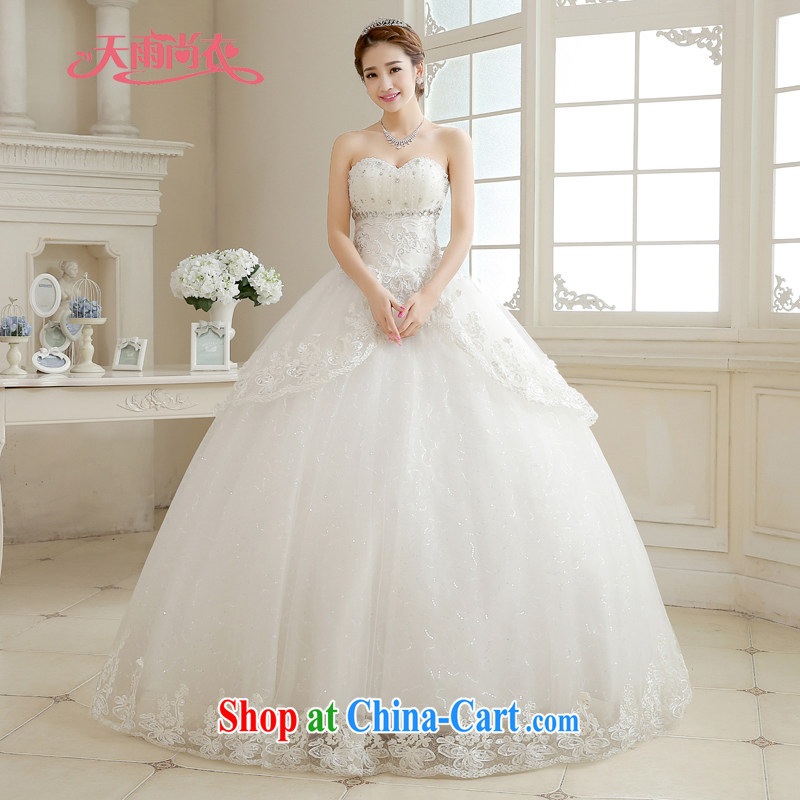 Rain is still Yi marriages 2015 new winter bridal the hotel is large, wedding high quality parquet drill white shaggy Princess with tie-down HS 888 white tailored is not returned.