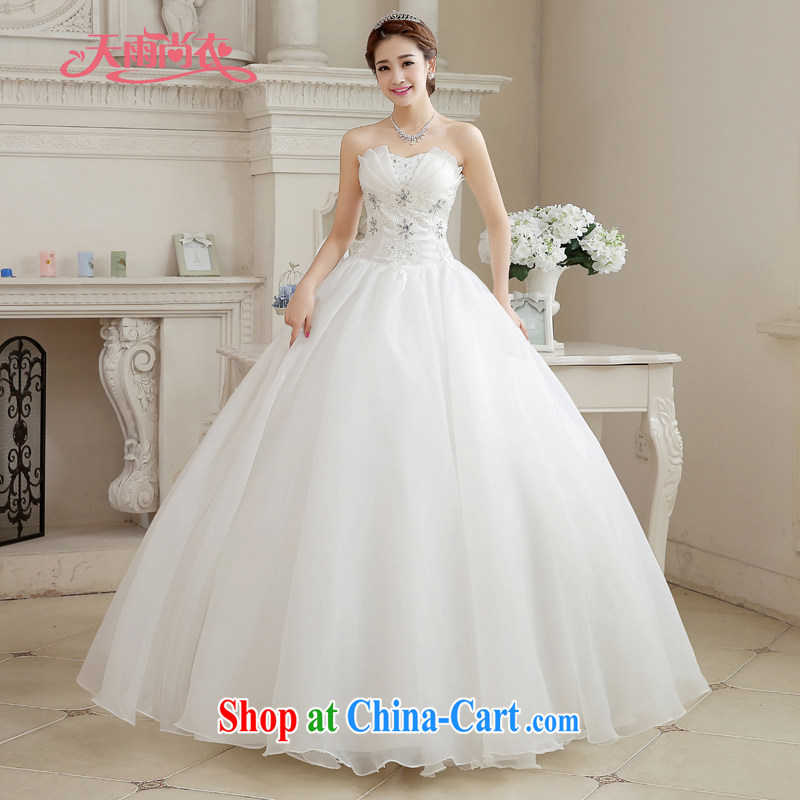 Rain is still clothing bridal 2015 new wedding dress white Princess married Mary Magdalene clothing chest stylish upmarket graphics thin large code with wedding HS 887 white tailored final