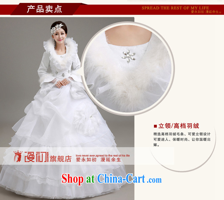 Early definition wedding dresses new 2015 winter Korean wedding winter long-sleeved wool collar thick winter, wedding white winter with wedding dresses white XXL code pictures, price, brand platters! Elections are good character, the national distribution, so why buy now enjoy more preferential! Health