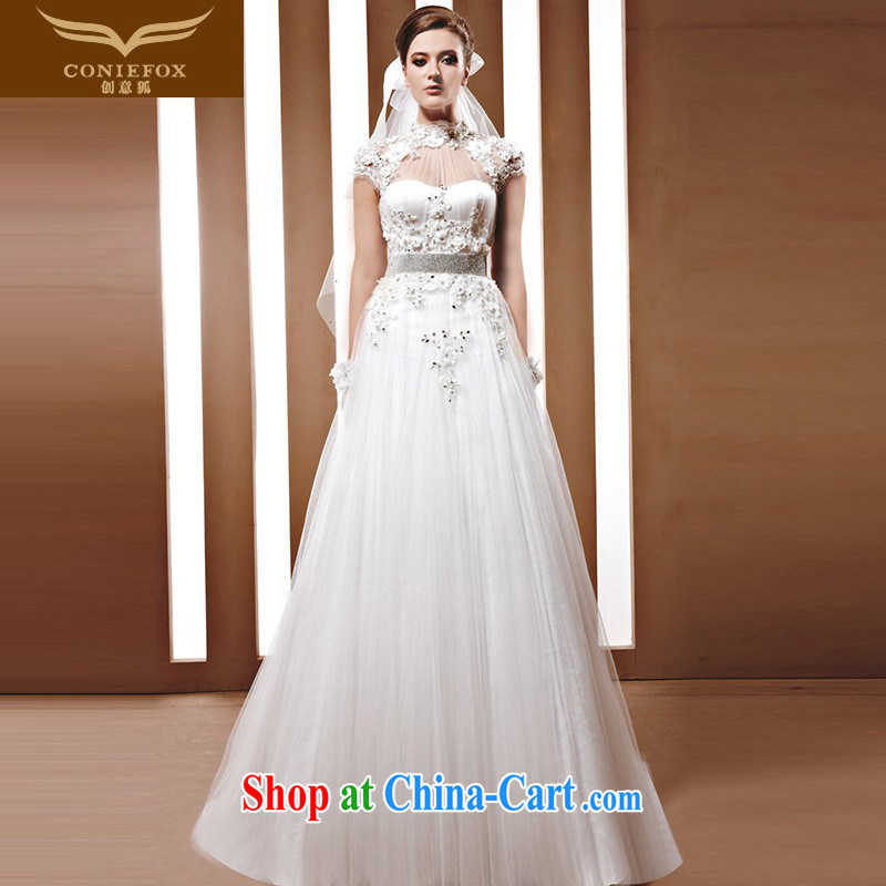 Creative Fox 2015 new high-end wedding dresses custom bridal wedding Korean wedding wedding new white wedding with 90,050 white tailored