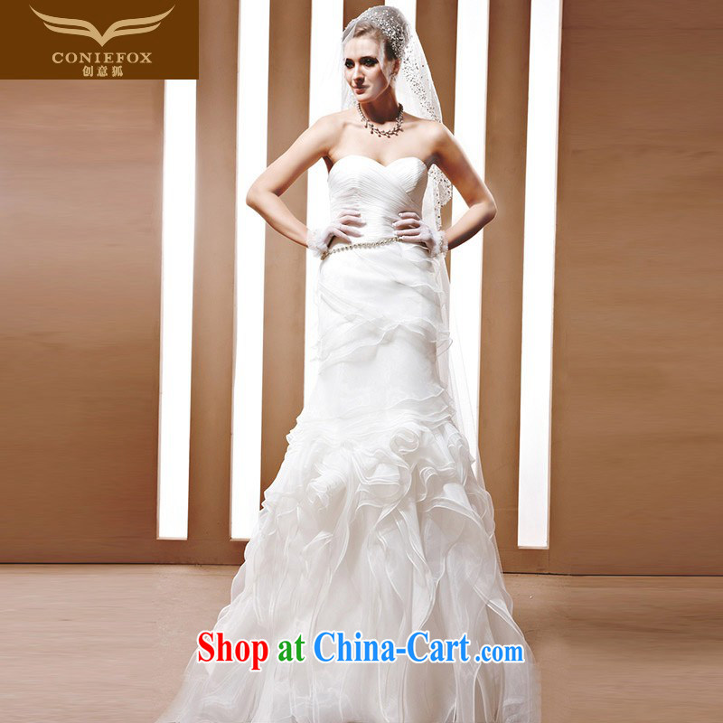 Creative Fox wedding tailored stylish bridal wedding upscale luxury marriage wedding white erase chest graphics thin sweet wedding 90,068 tailored