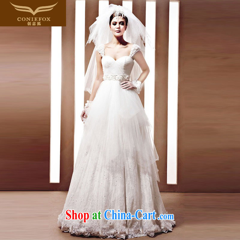 Creative Fox wedding dresses tailored bridal wedding new white with wedding dresses elegant and noble dream wedding wedding 90,060 white tailored