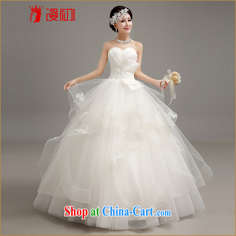 Early definition 2015 new wedding dresses Korean shaggy dress with wedding wiped chest graphics thin Princess with straps wedding White made contact Customer Service