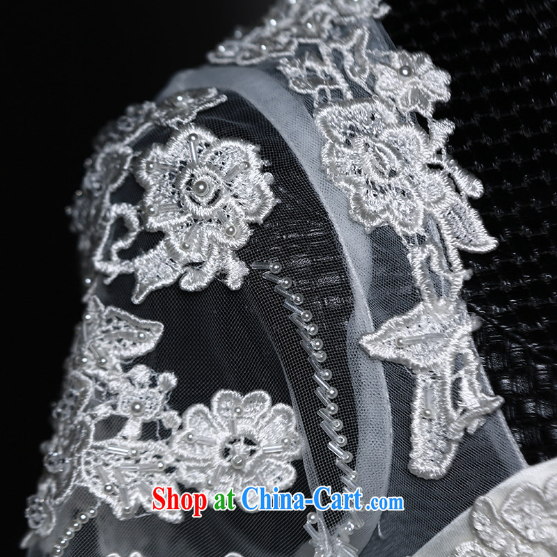 With the 2015 spring new winter Butterfly Dream erase chest lace long-sleeved shaggy dress long-tail bridal wedding dresses wedding winter white tail, L, AIDS, and, on-line shopping