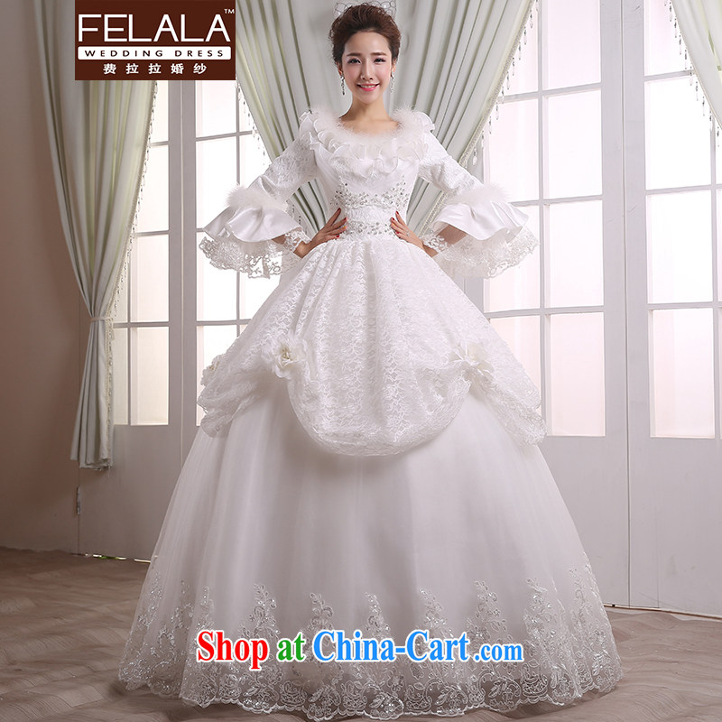 Ferrara 2015 new winter, thick romantic lace inserts drill wedding XL _2 feet 2_