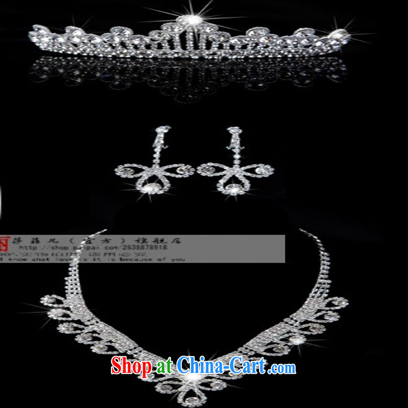 2014 new bridal jewelry package Crown necklace earrings wedding dresses accessories