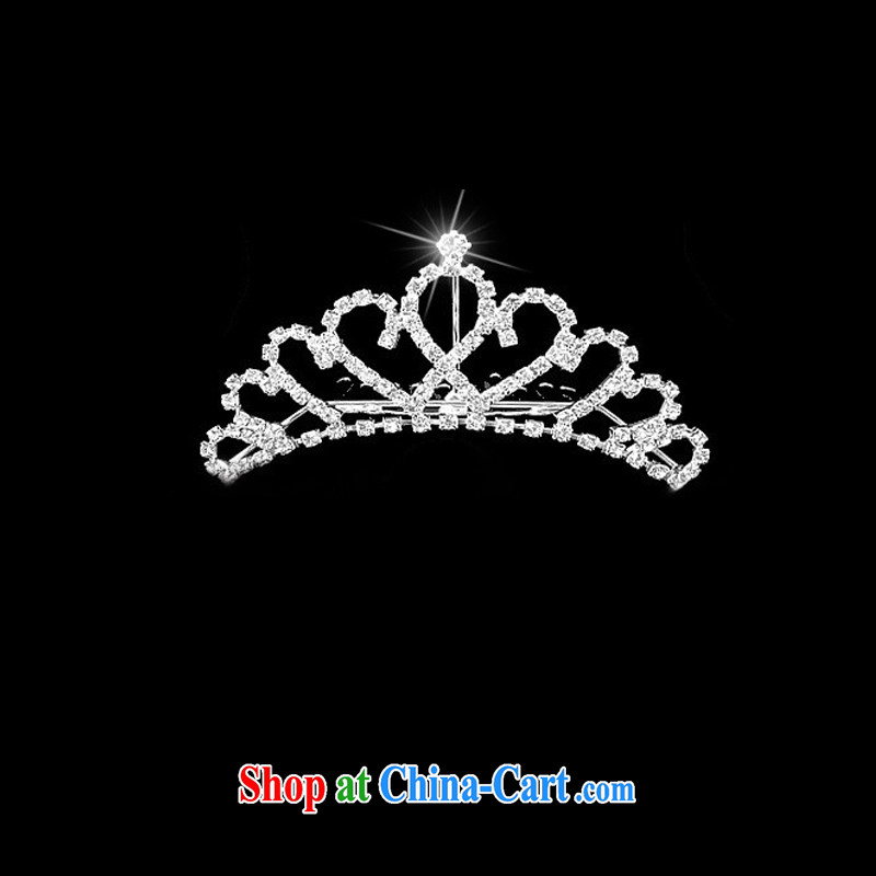 2015 new bridal jewelry Korean-style wedding accessories crown-decorated Wedding water diamond necklace earrings rings bracelets 5 piece set with white, code, and 7-Color 7 tone, shopping on the Internet