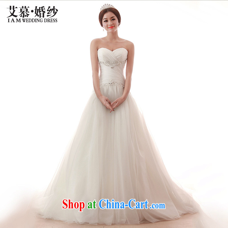 With the 2015 spring new Wedding This lady Princess only erase chest Deluxe Big-tail wedding photography at night white tailored