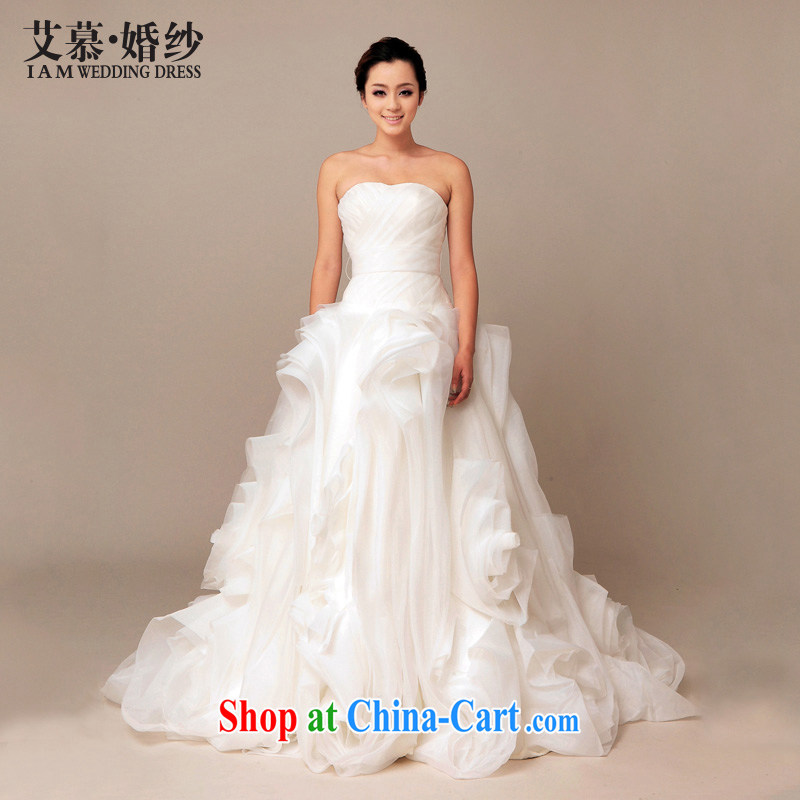 With the 2015 spring new classic Korean Princess European root yarn bridal tail wedding photography toast bridesmaid wedding dresses with straps, tailored