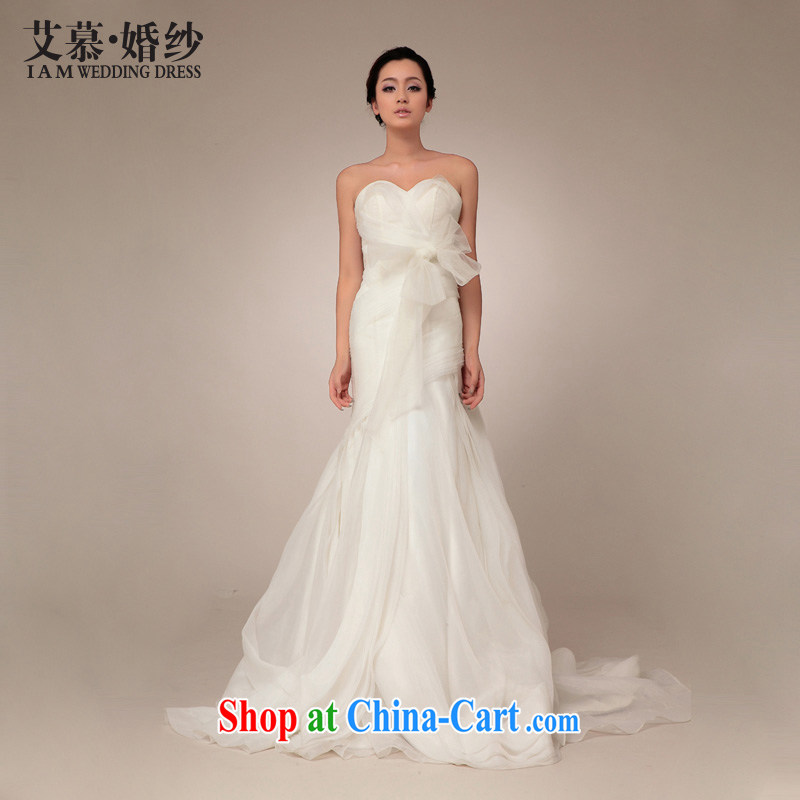 With the 2015 spring new wedding confided in US and Europe about retro Princess crowsfoot tail wedding dresses ivory tailored