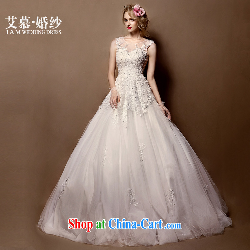 With the 2015 spring new improved gel lace half and wiped his chest Princess shaggy dress bridal wedding dresses white XL