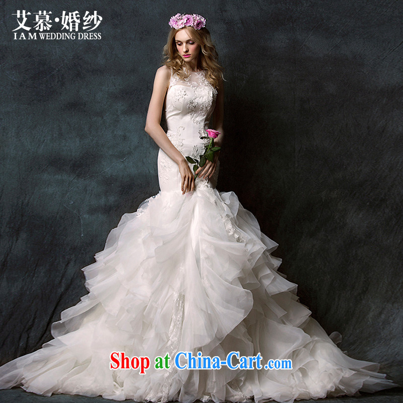 On the wedding spring 2015 new books Yao lace bare chest crowsfoot long-tail bridal wedding dresses ivory tailored