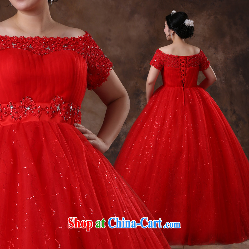 Moon ? guijin 2014 new larger wedding thick MM wedding red with wedding package shoulder graphics thin back strap bhs 70 big red XXL scheduled 3 days from Suzhou shipping