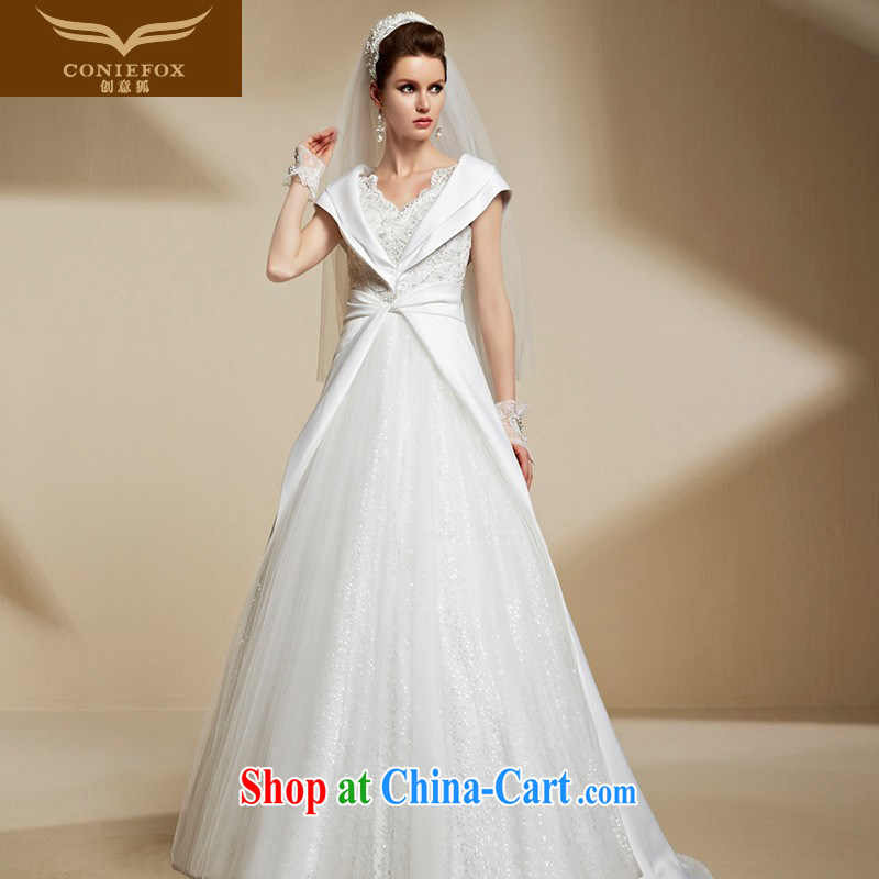 Creative Fox 2015 new wedding dresses custom luxury to process wedding high waist beauty graphics thin stylish winter wedding 90,209 picture color tailored