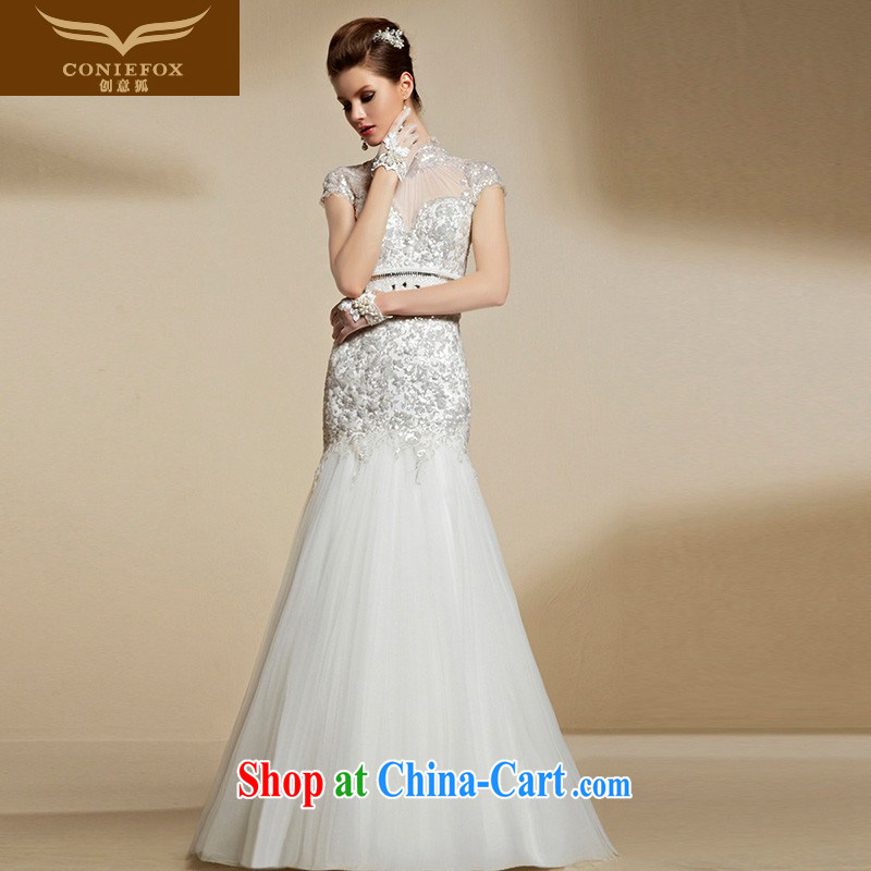 Creative Fox 2015 new high-end custom wedding dresses is also white wedding beauty video slim, bridal wedding dresses 90,213 picture color tailored
