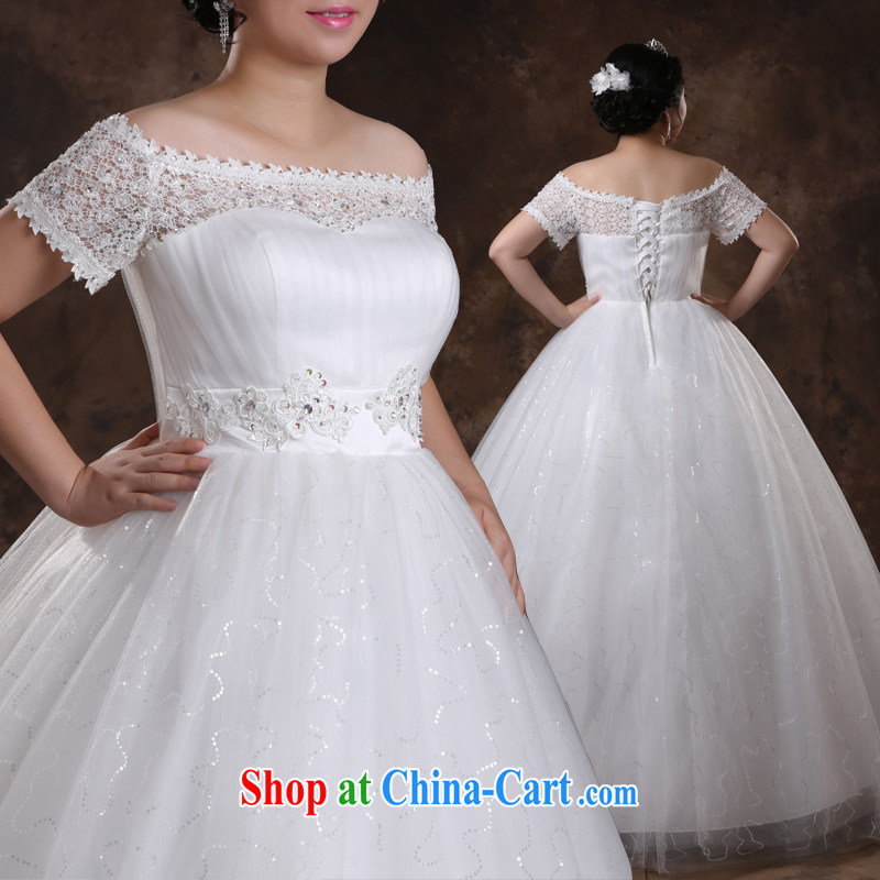 Moon �� guijin expert in the production of the 2014 autumn and winter, tied with graphics thin version number increase the fat girl mm wedding white XXXXXL scheduled 5 day shipping