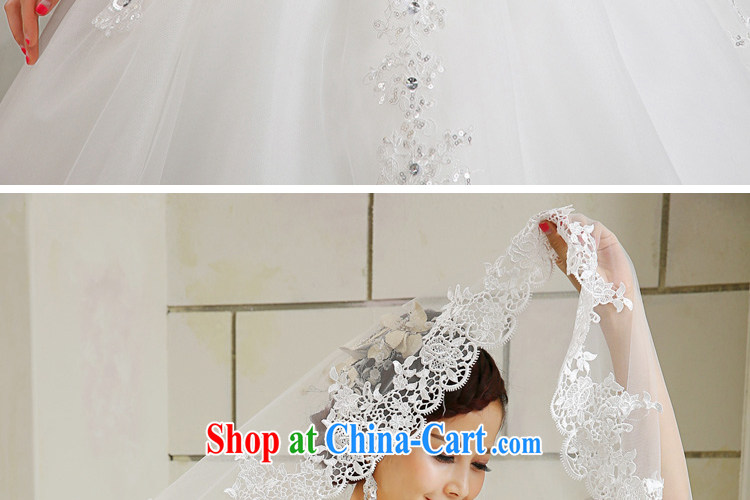 Honey, bride 2015 new luxury 3M white head yarn ultra-long bridal wedding mandatory Korean-style tail white pictures, price, brand platters! Elections are good character, the national distribution, so why buy now enjoy more preferential! Health