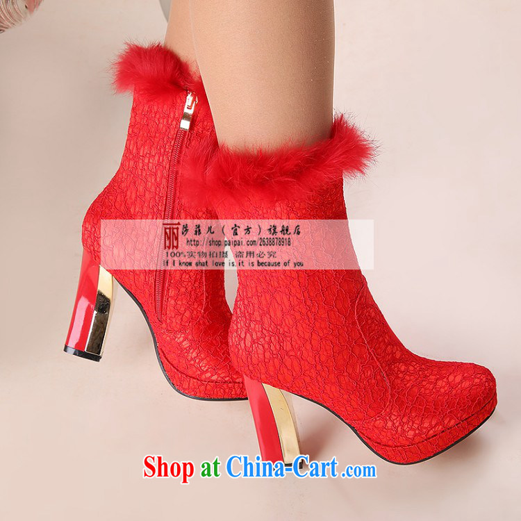 Wedding shoes women 2014 new winter wedding shoes red high heel bridal autumn and winter wedding shoes wedding shoes snow boots shoes women with 10 CM 39 pictures, price, brand platters! Elections are good character, the national distribution, so why buy now enjoy more preferential! Health
