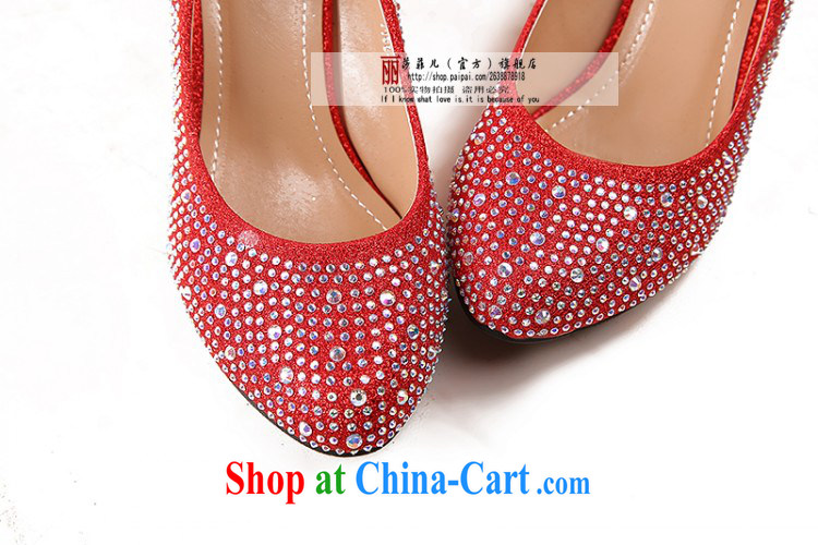 Spring and Autumn 2014, the princess wedding shoes in bold red with my store high-heel shoes cross-tied with a water-tight single women shoes gold 6cm with 39 pictures, price, brand platters! Elections are good character, the national distribution, so why buy now enjoy more preferential! Health