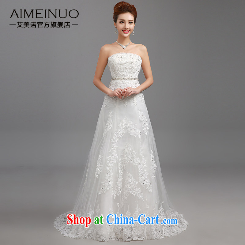 The United States, wedding dresses 2015 new lace take off chest parquet drill belt only American Princess small tail Korean Beauty graphics thin straps H - 83 XXL
