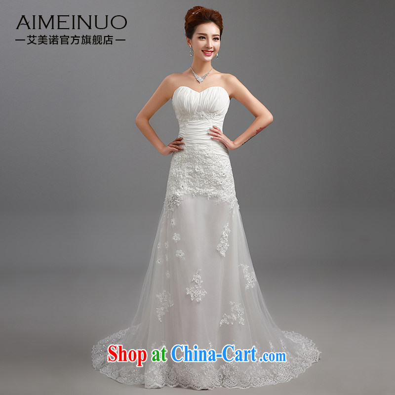 The United States and the 2015 spring and summer new wedding wiped chest strap lace take small tail bridal beauty graphics thin plastic body package and the crowsfoot yarn H - 87 white?XL