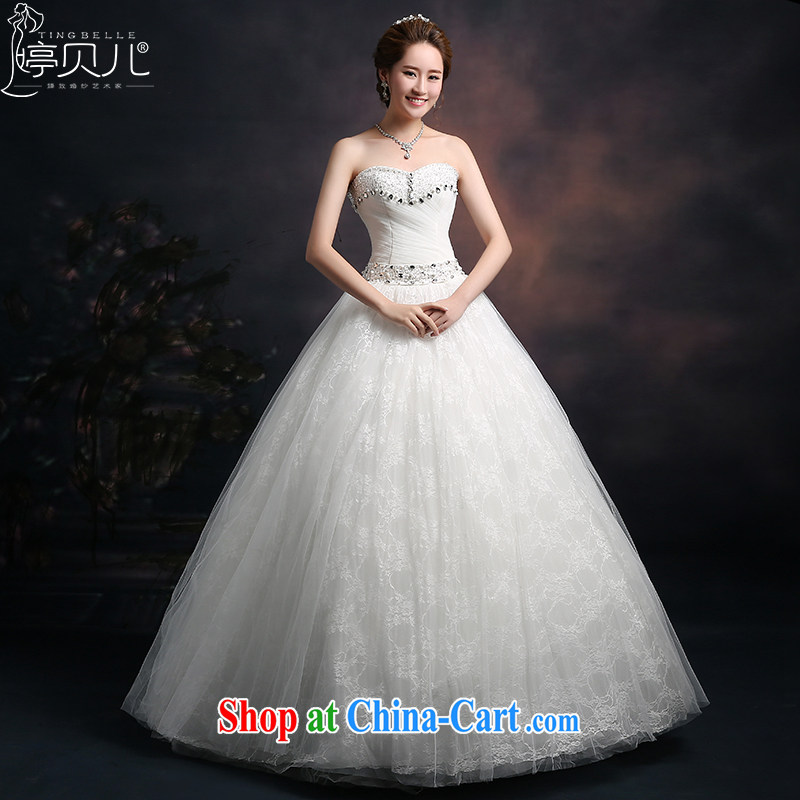 Ting Beverly wedding dresses 2015 new spring and summer Korean wiped his chest wedding beauty autumn graphics thin large, stylish Princess shaggy dress white XXL