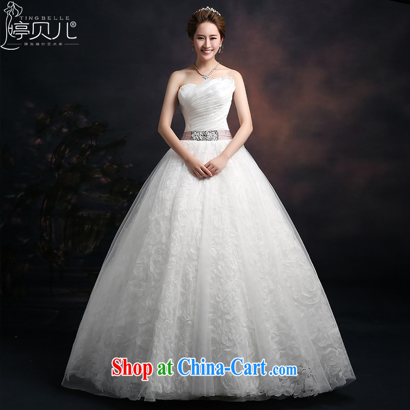 Ting Beverly 2015 New Spring Summer autumn wedding chest bare Korean fashion bridal wedding band wedding dresses beauty graphics thin with white XXL