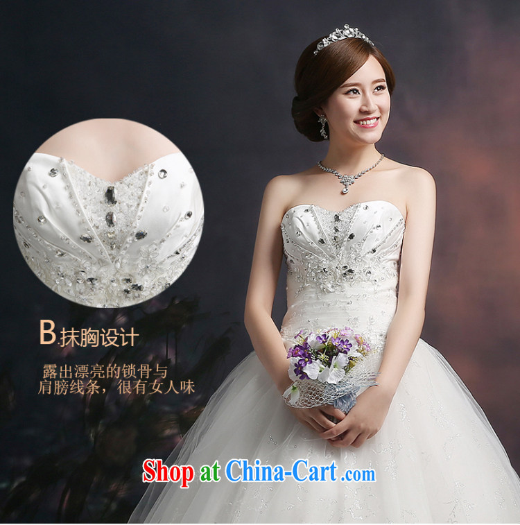 Ting Beverly wedding dresses 2015 new spring and summer marriages wedding wiped his chest and tied with parquet drill larger graphics thin beauty white XXL pictures, price, brand platters! Elections are good character, the national distribution, so why buy now enjoy more preferential! Health