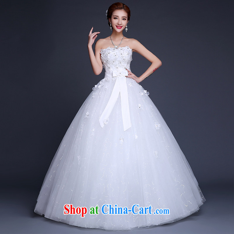Sophie HIV than wedding dresses new 2015 summer Korean lace stylish erase chest bridal wedding dress high waist with graphics thin wedding female white XXL