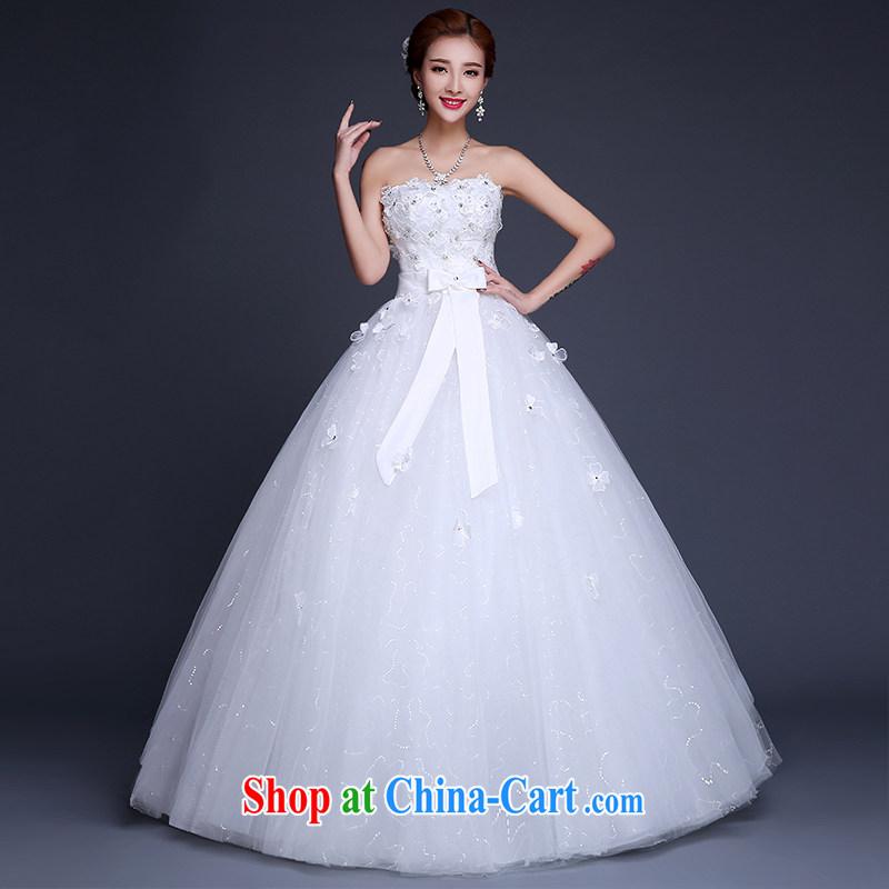Sophie HIV than wedding dresses new 2015 summer Korean lace stylish erase chest bridal wedding dress high waist with graphics thin wedding female white XXL