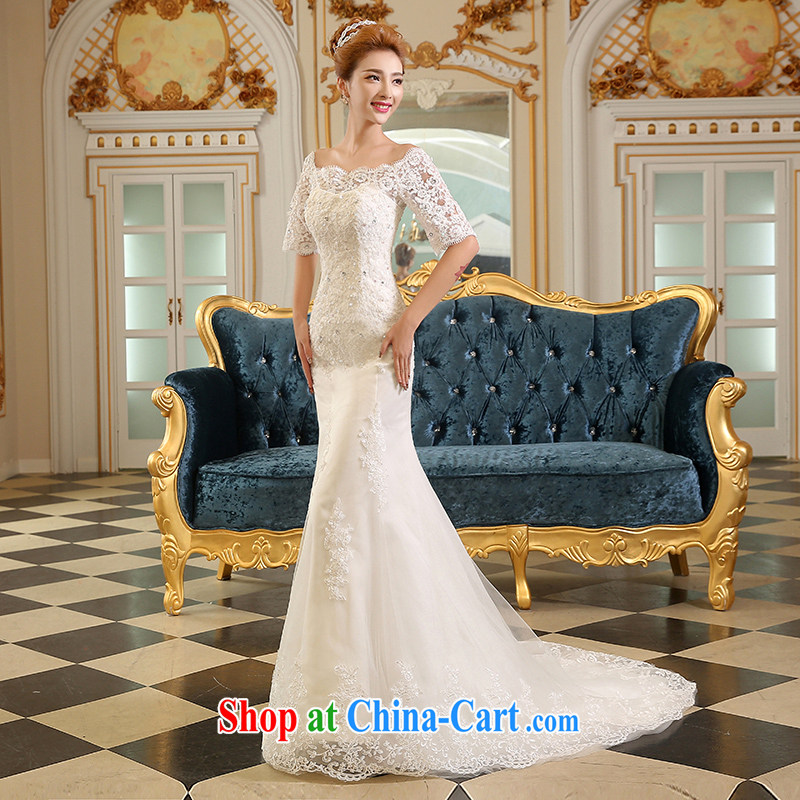 Sophie HIV than wedding dresses 2015 new summer fashion Korean bridal dresses. In Thin cuff lace a Field shoulder at Merlion wedding band is the tail white XXL