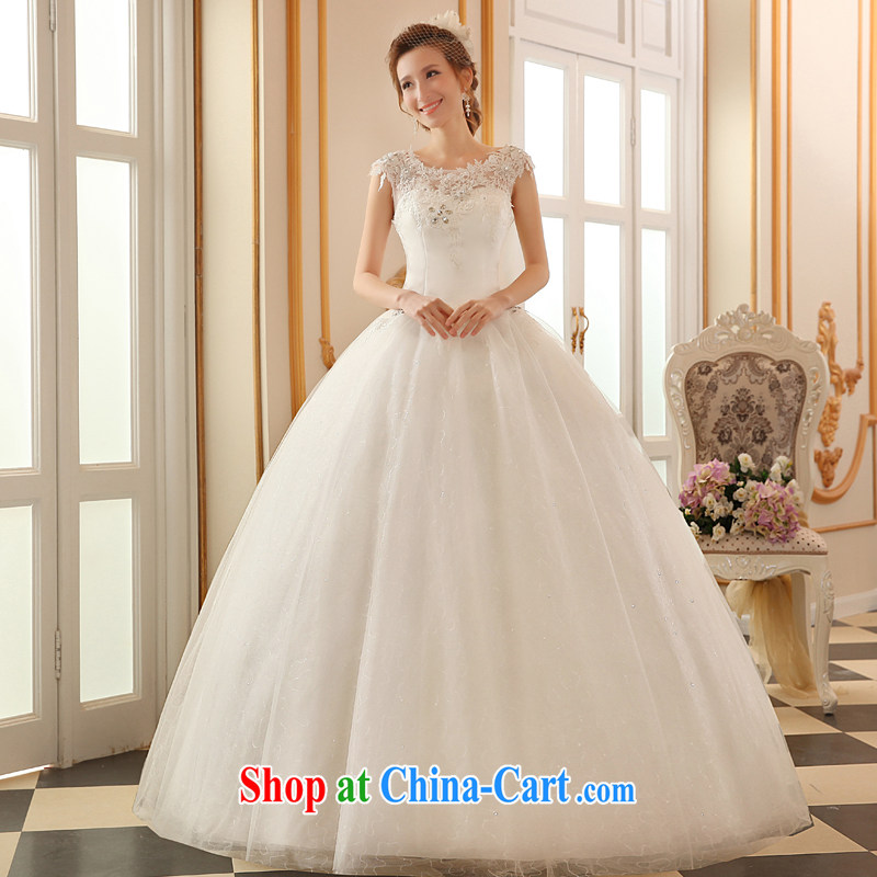 The Vanessa wedding dresses summer 2015 new stylish Korean wedding double-shoulder cultivating strap wedding bridal marriage with wedding white long wedding female white XXL (the Chest on the 3 piece)