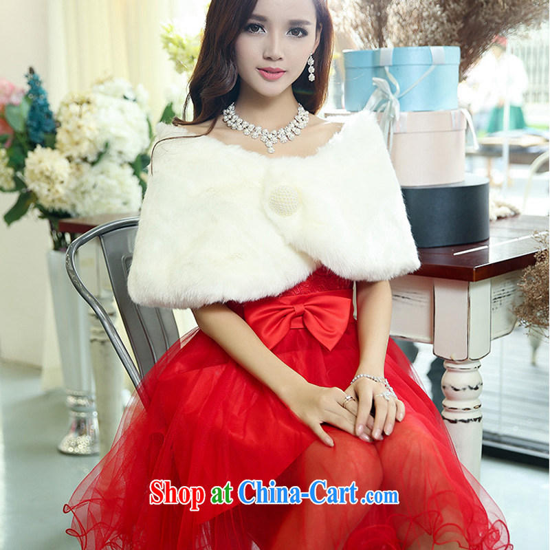 Air Shu Diane new 2014 winter small dress winter wedding bridesmaid dress bridal dress uniform toast wedding dresses with small shawl 9999 red XL