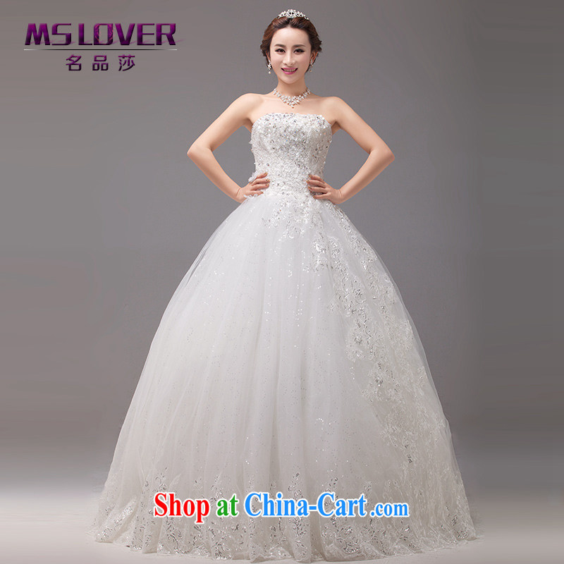 MSLover new asymmetric design, lace Princess bride Mary Magdalene Beauty Chest graphics thin with straps bridal wedding 0024 m White tailored